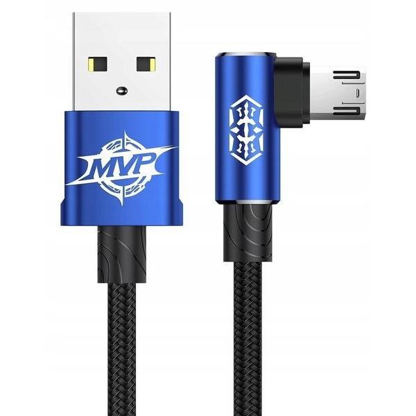 Micro-USB кабель Baseus MVP Elbow 1.5A 2M синий