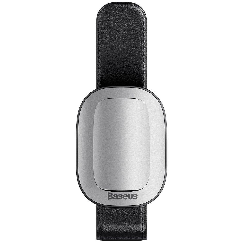 Автомобильный держатель для очков Baseus Platinum Vehicle eyewear clip (clamping type) серебристый (ACYJN-B0S)