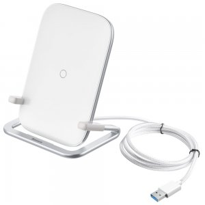 Беспроводное зарядное устройство Baseus Rib Horizontal and Vertical 15W (WXPG-02) белое