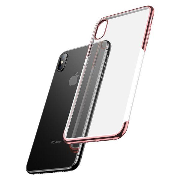 Силиконовый чехол Baseus Shining золотой для iPhone XS