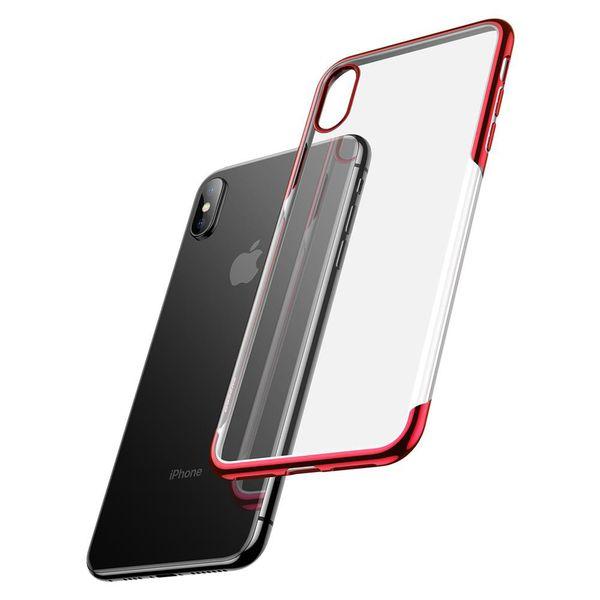 Силиконовый чехол Baseus Shining красный для iPhone XS Max