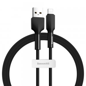 Lightning кабель Baseus Silica Gel cable USB For iPhone 1m черный