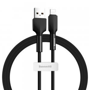Lightning кабель Baseus Silica Gel cable USB For iPhone 1m черный