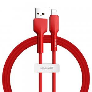 Lightning кабель Baseus Silica Gel cable USB For iPhone 1m красный