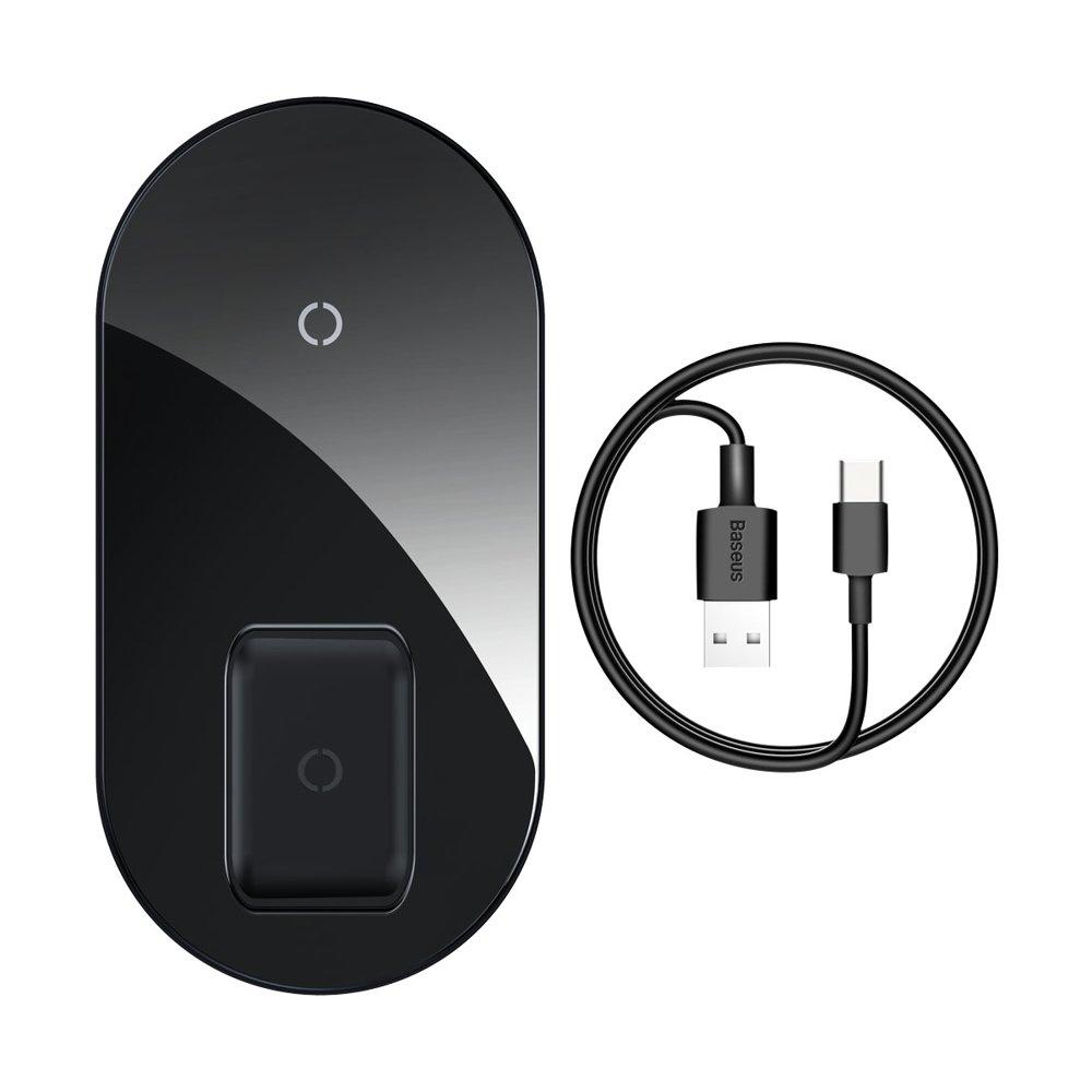Беспроводное ЗУ Baseus Simple 2-in-1 Wireless Charger Pro Edition черное