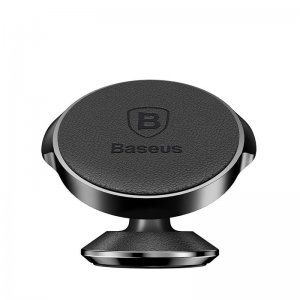 Автомобильный держатель Baseus Small Ears Series Vertical Magnetic Bracket (Genuine Leather Type) черный