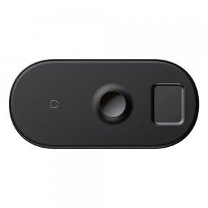 Беспроводное зарядное устройство Baseus Smart 3-в-1 черное для Phone+Watch+Pods