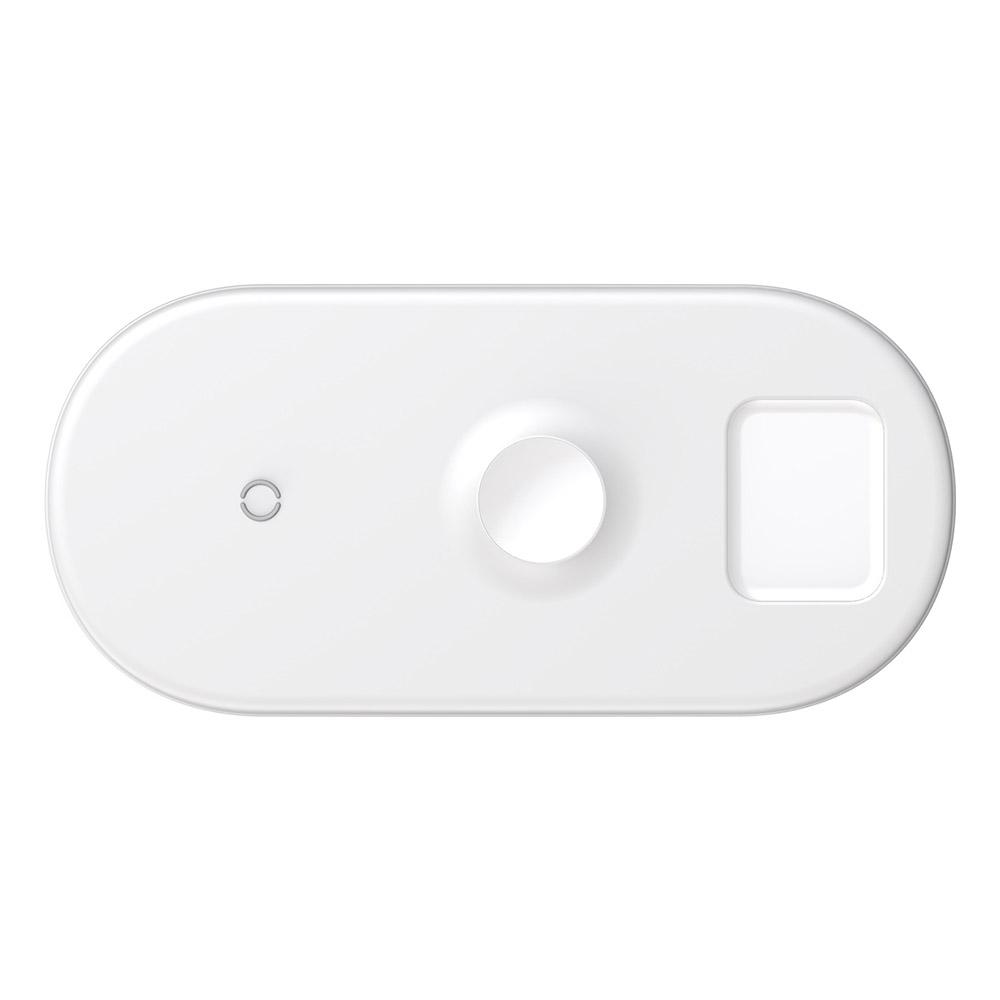 Беспроводное зарядное устройство Baseus Smart 3-в-1 белое для Phone+Watch+Pods