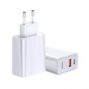 Сетевое зарядное устройство Baseus Speed PPS Quick Charger C+U 30W белое