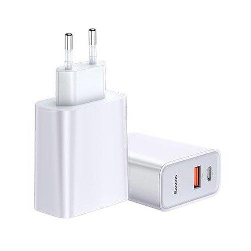 Сетевое ЗУ Baseus Speed PPS Quick Charger C+U 30W (Type-C кабель в комплекте) белое