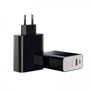 Сетевое ЗУ Baseus Speed PPS smart shutdown & Digital Display touch charger C+U 45W чёрное