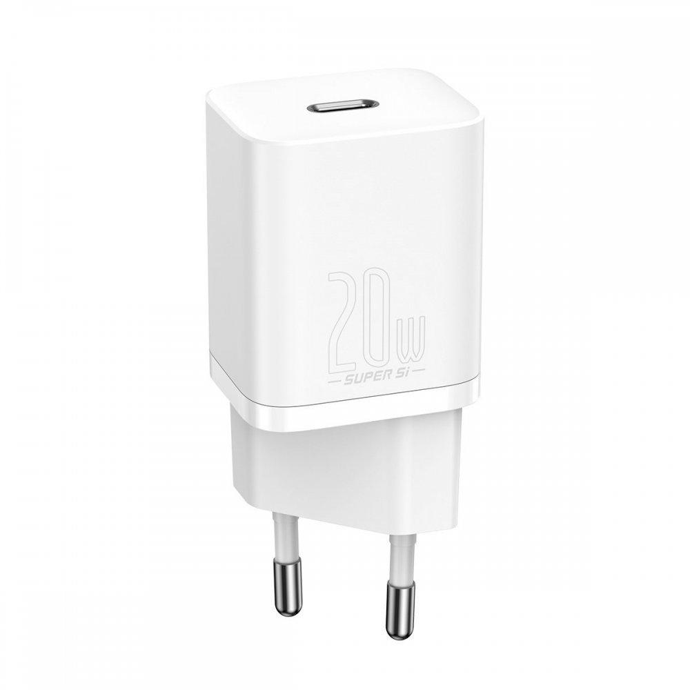 Сетевое зарядное устройство Baseus Super Si Quick Charger 1C 20W (CCSUP-B02) белое