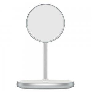 Беспроводное зарядное устройство Baseus Swan Magnetic Desktop Bracket Wireless Charger Suit для iPhone 12 (WXSW-01) белое