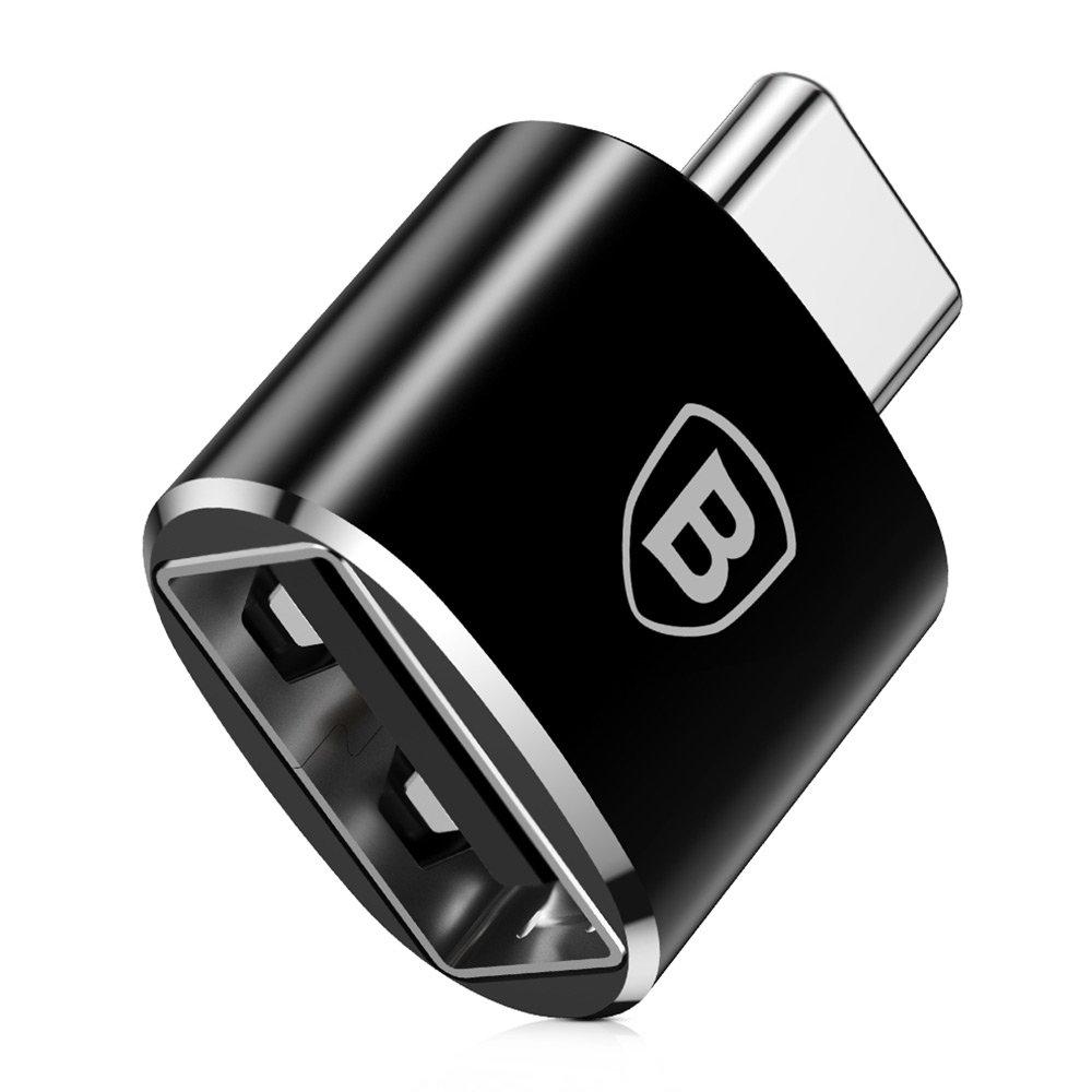 Переходник Baseus USB Female To Type-C Male Adapter Converter (CATOTG-01) чёрный