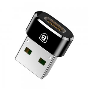 Переходник Baseus USB Male To Type-C Female Adapter Converter (CAAOTG-01) чёрный