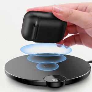 Чехол для беспроводной зарядки Baseus черный для Apple AirPods
