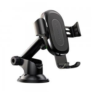 Беспроводное автомобильное ЗУ Baseus Wireless Charger Gravity Car Mount (osculum type) чёрный