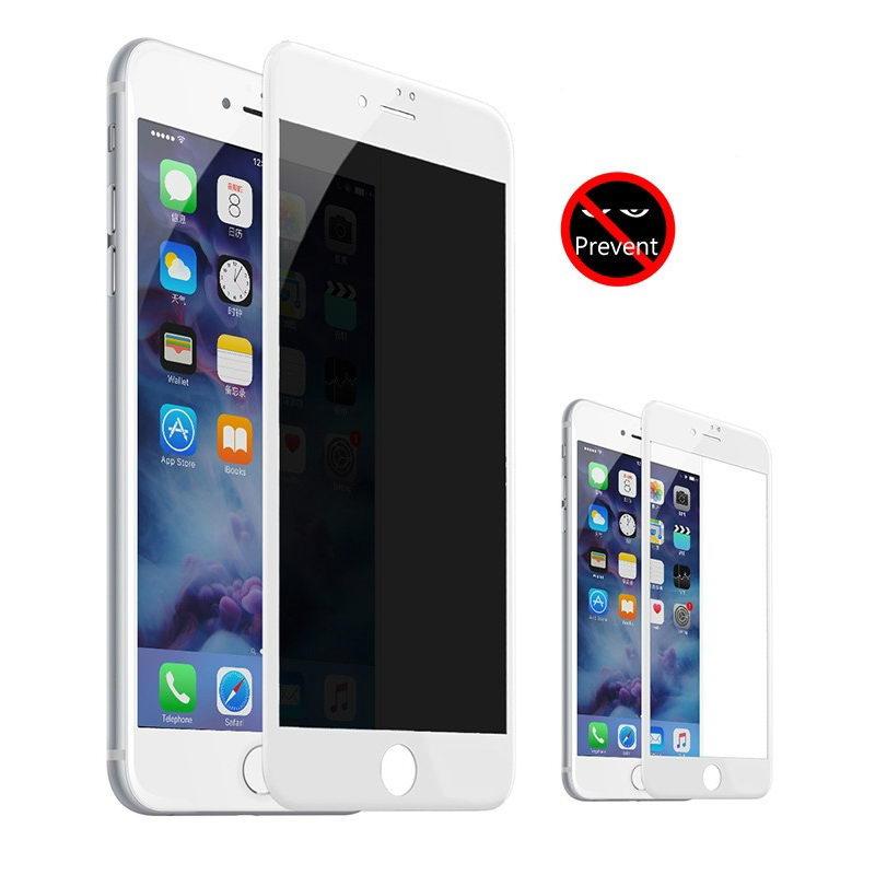 Защитное стекло Baseus 0.23мм с защитой от подглядываний белое для iPhone 7 Plus