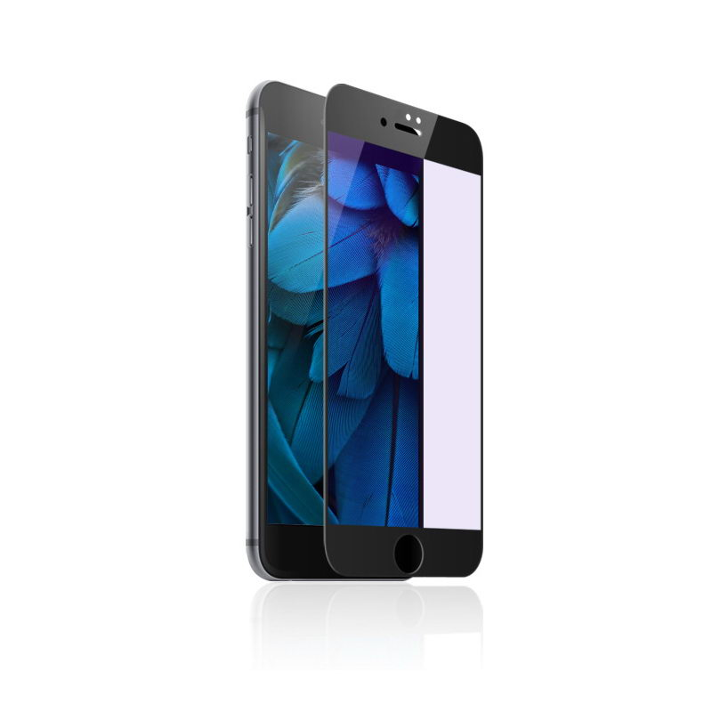 Защитное стекло Baseus 0.3mm All-screen Arc-surface Anti-bluelight черное для iPhone 7/8