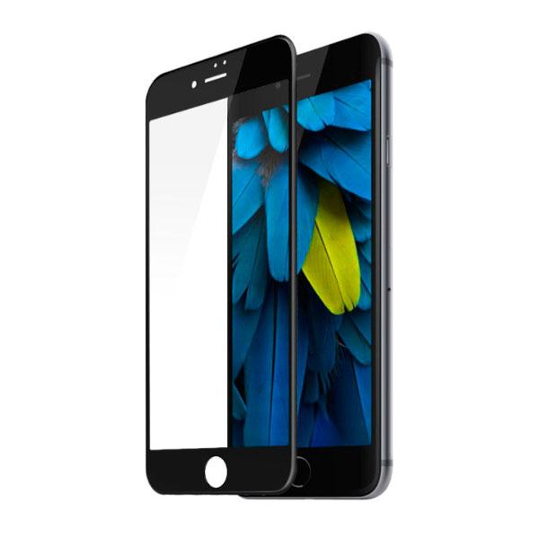 Защитное стекло Baseus 0.2mm Silk-screen глянцевое, черное для iPhone 8 Plus